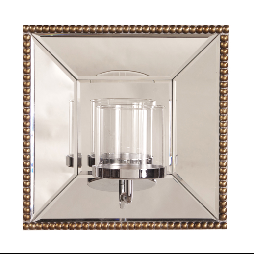Contemporary Contemporary Lydia Mirror w/ Candle Holder