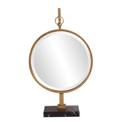 Contemporary Contemporary Medallion Gold Mirror