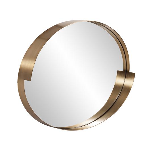 Contemporary Contemporary Intrepid Oval Mirror