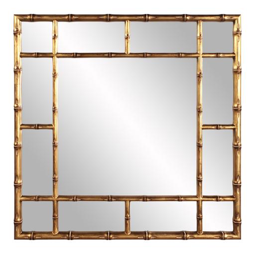 Contemporary Contemporary Bamboo Mirror