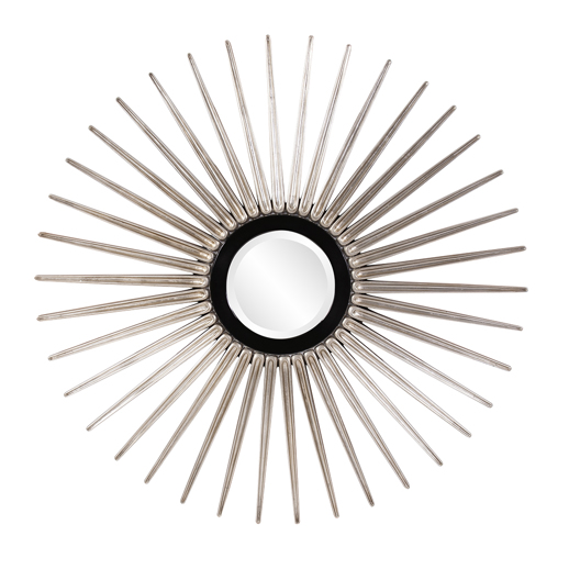 Contemporary Contemporary Solar Silver Mirror