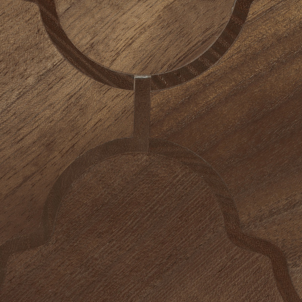 Specialty Wallcovering Unique Effects Sextant Walnut