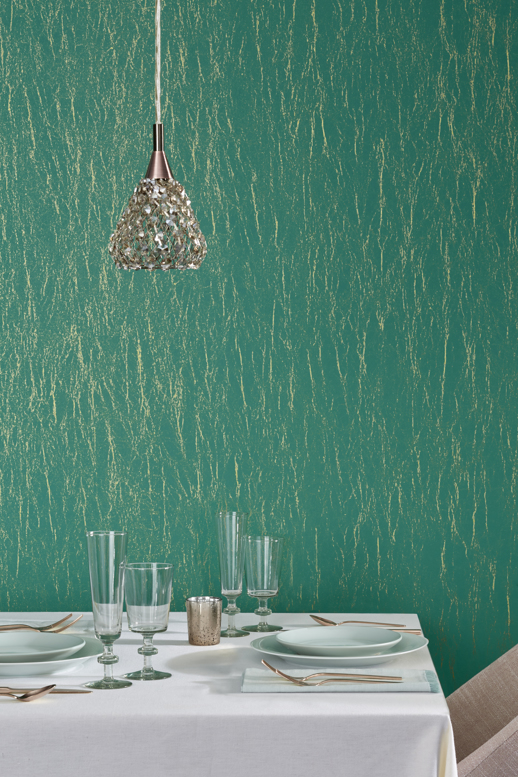 Vinyl Wall Covering Bolta Contract Enchanted Pink Shale Room Scene