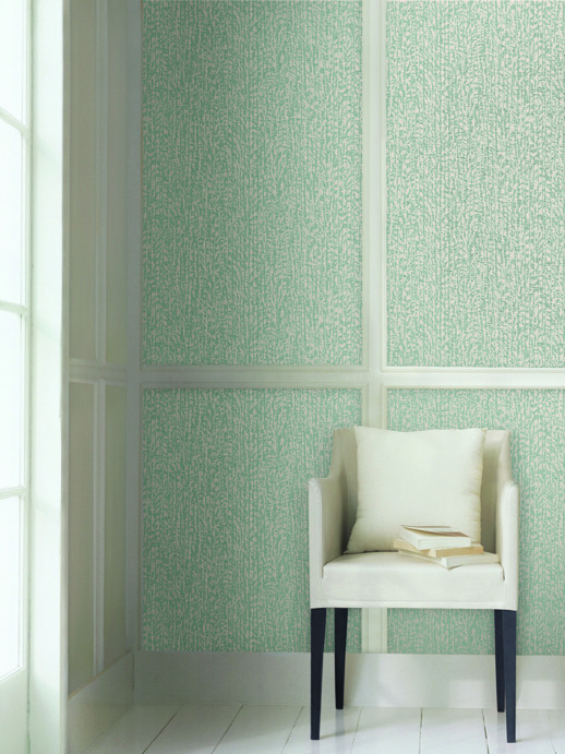 Vinyl Wall Covering Candice Olson Couture Breeze Aqualina Room Scene