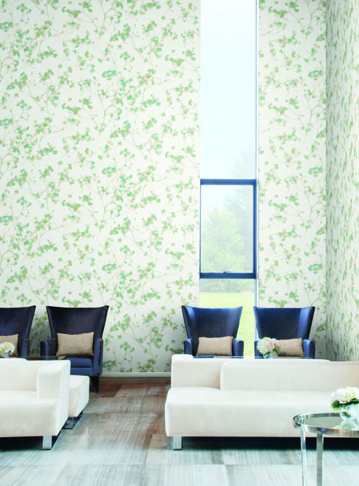 Vinyl Wall Covering Candice Olson Couture Living Well - Serenity Calm Room Scene