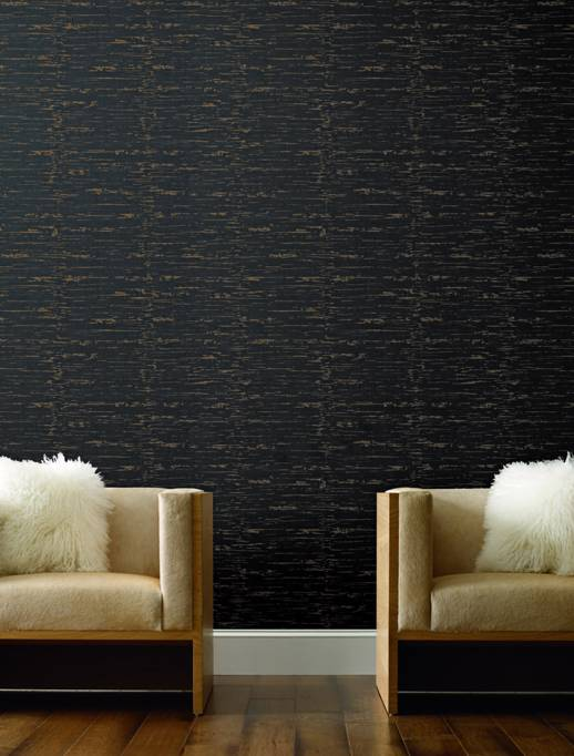 Vinyl Wall Covering Candice Olson Couture Luxe Patina Ebony Room Scene