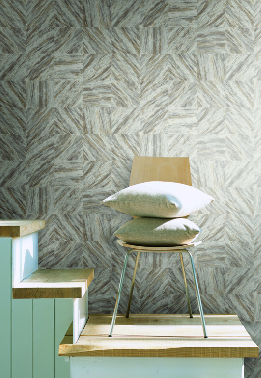 Vinyl Wall Covering Candice Olson Couture Rhapsody Sandstone Room Scene