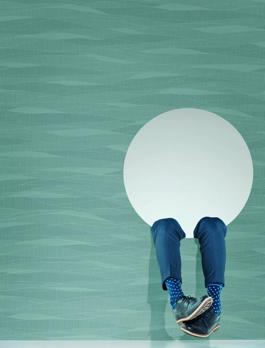 Vinyl Wall Covering Design Gallery Viva La Art Curve Appeal Cloud Room Scene