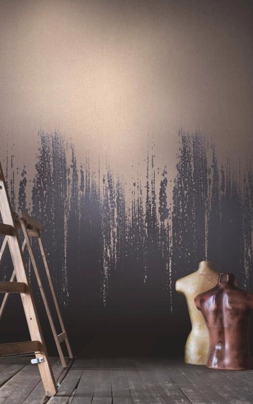 Vinyl Wall Covering Design Gallery Viva La Art Trickle Down Gold Rush Room Scene