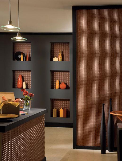 Vinyl Wall Covering Dimension Walls Aleutian Bronze Room Scene