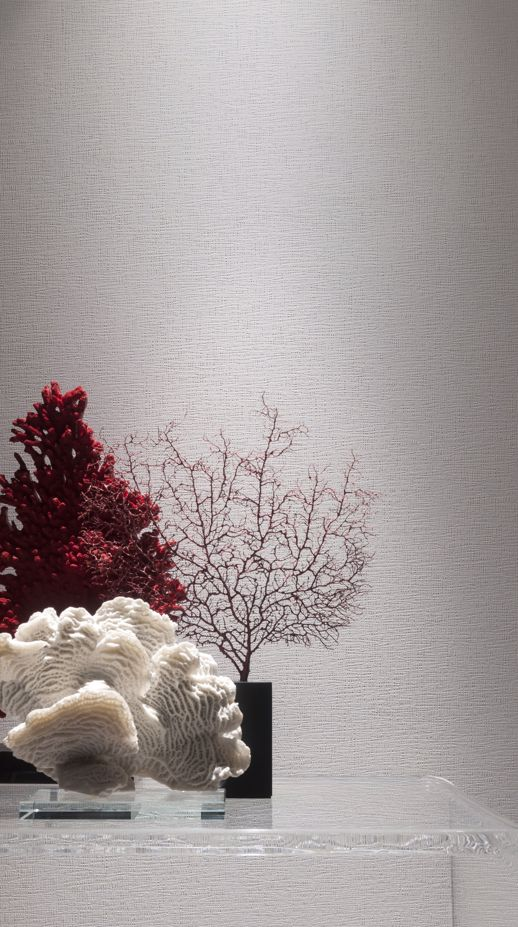 Vinyl Wall Covering Genon Contract Striations Fault Grey Room Scene