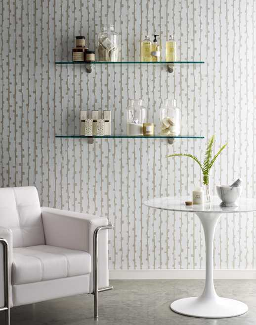 Specialty Wallcovering Handcrafted Aster Quartzite Room Scene