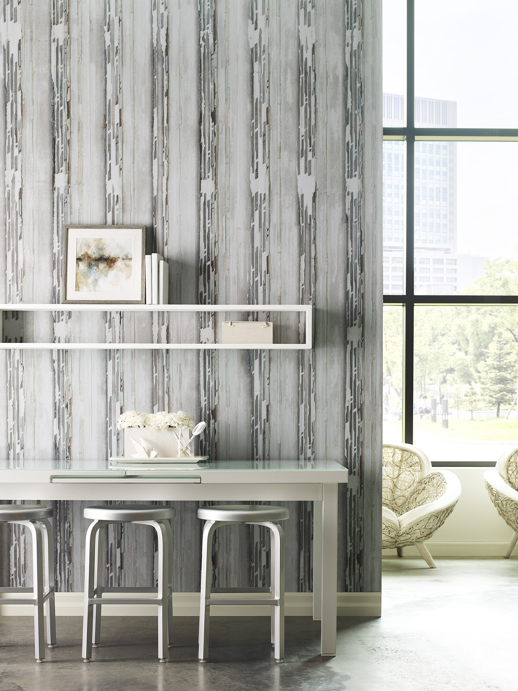 Vinyl Wall Covering Handcrafted Lancet Riviera Room Scene