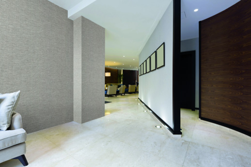 Textile Wallcovering High Performance Textiles Lucienne Natural Room Scene