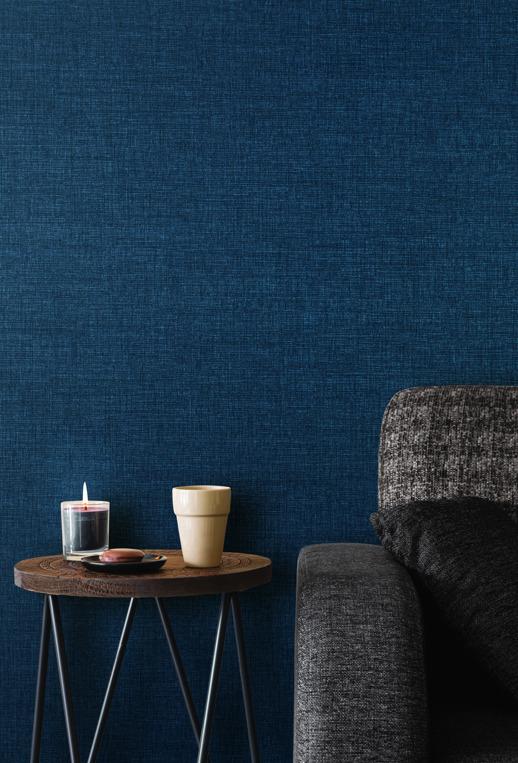Vinyl Wall Covering Len-Tex Contract Etana Weave Coconut Room Scene