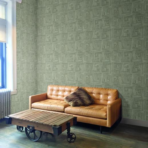 Vinyl Wall Covering Restoration Elements Carpentry White Wash Room Scene