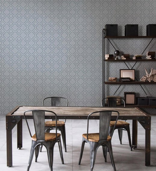 Vinyl Wall Covering Restoration Elements District Pearl Trax Room Scene