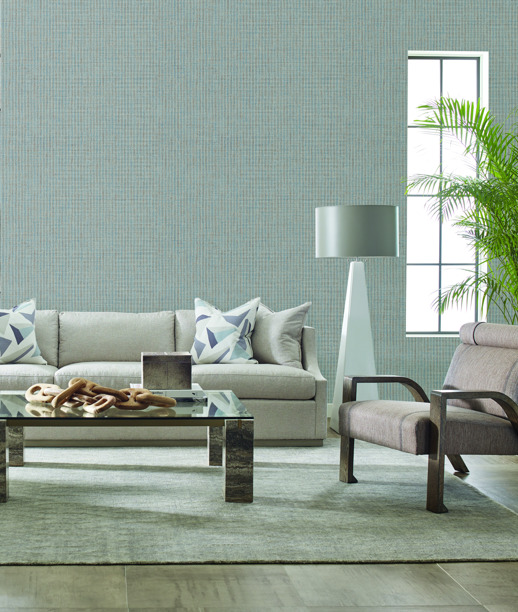 Vinyl Wall Covering Thom Filicia Elgin Sable Room Scene