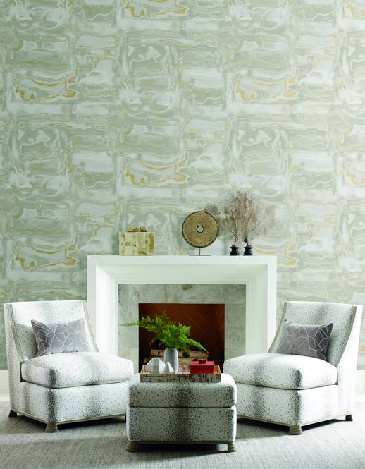 Vinyl Wall Covering Thom Filicia On The Rocks Luna Room Scene