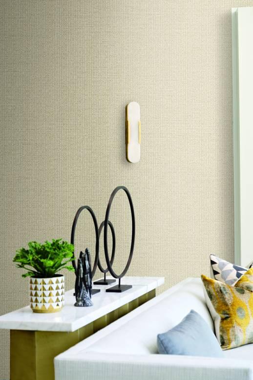 Vinyl Wall Covering Thom Filicia Woven Strut Honeycomb Room Scene
